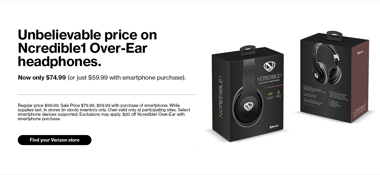 Unbelievable price on Ncredible1 Over-Ear headphones.